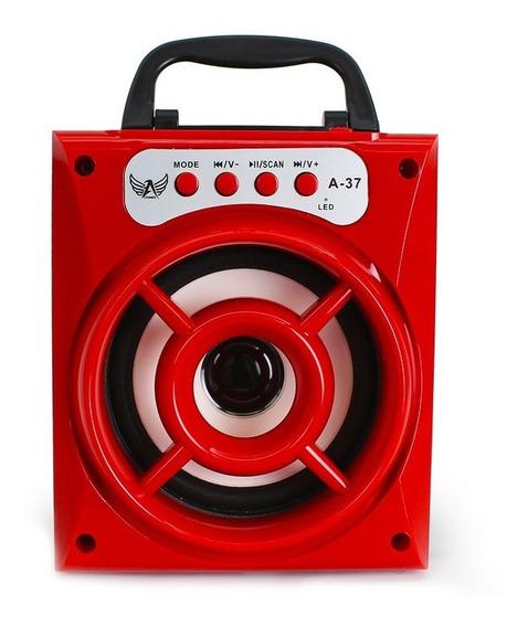 Mini Caixa De Som Bluetooth Radio Fm Usb Pendrive 8w Potente