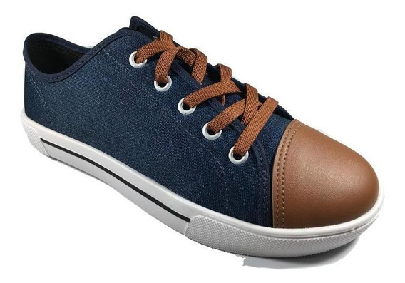 Tênis Casual Jeans Molekinho Infantil Meninos Azul