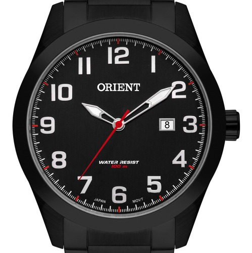 Imagem 1 de 3 de Relógio Orient Masculino Preto  Mpss1019 P2px