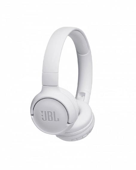 Fone De Ouvido Bluetooth Jbl Com Microfone Branco - T500bt