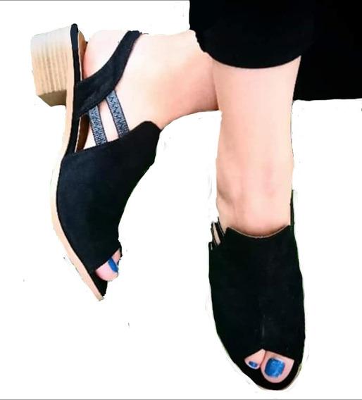 Zapatos Dama Sueco Negro