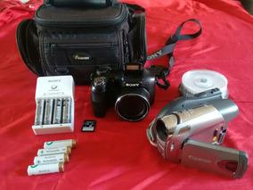 Câmera Sony Semiprofissional H100 + Filmadora Canon Dc330