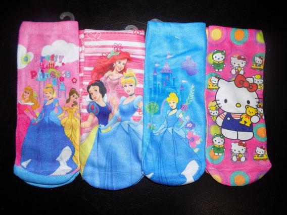 Medias Disney Princesas Hello Kitty Dora Hanna Niñas 8 Pack