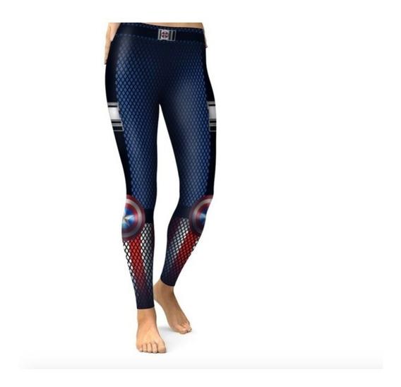 Legging Deportivo Mallones Capitan America 3d Xtrem P