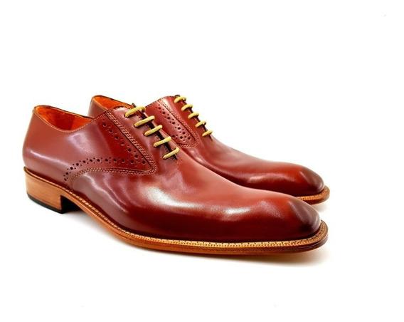Zapato De Hombre Vestir Cuero Legitimo Leonetti Marron