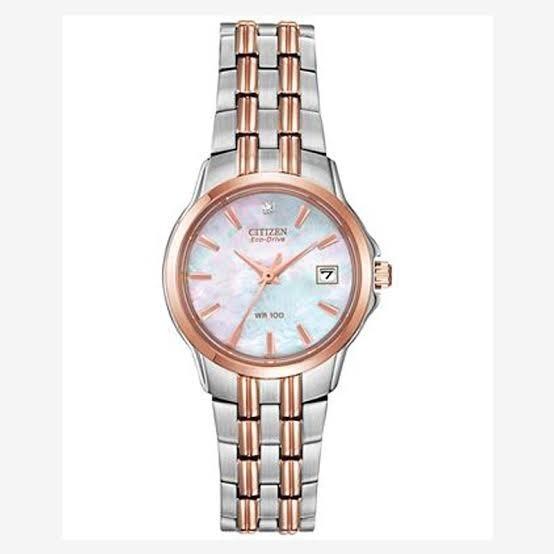 Reloj Dama Citizen Ew1546-58d Ecodrive Con Un Diamante Real
