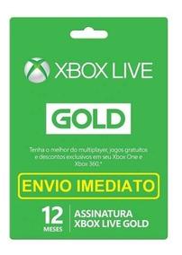 Xbox Live Gold 12 Meses Br Xbox 360 Xbox One Envio 10 Min