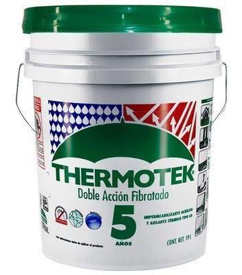 Impermeabilizante Blanco Thermotek Fibratado 5 Años!!