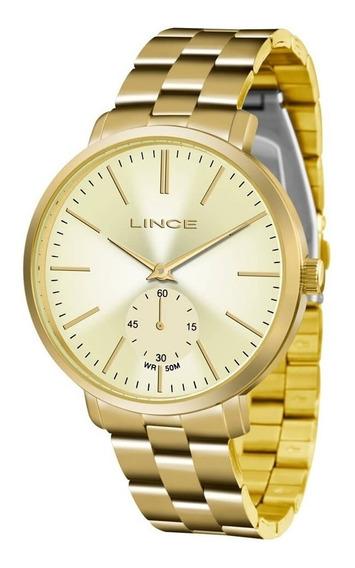 Relógio Feminino Lince Dourado Lrgj065l C1kx