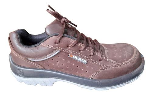Zapatilla Zapato Trabajo Seguridad Bladi Cuero Liviano 210