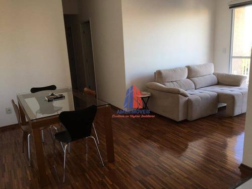 Apartamento Com 3 Dormitórios À Venda, 70 M² Por R$ 350.000 - Residencial Clube Colorê - Vila Belvedere - Americana/sp - Ap1077