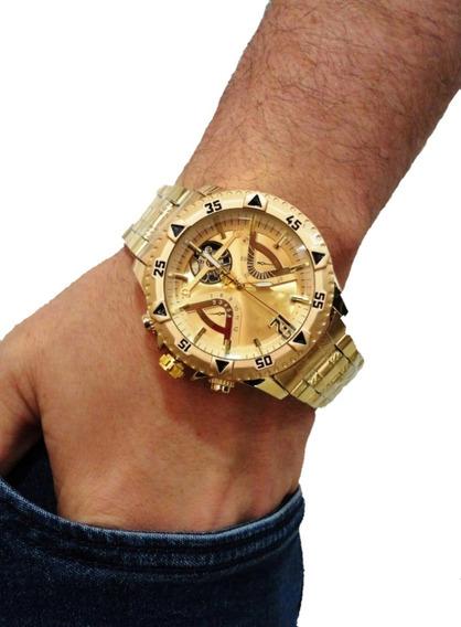 Relógio Prata Masculino Grande Barato Pesado