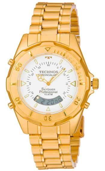 Relógio Technos Skydiver Dourado - T20557/49b
