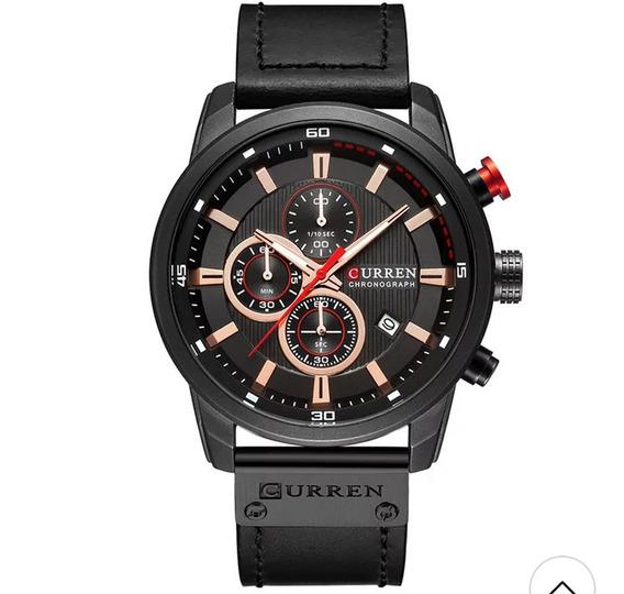 Curren 8291 Couro Aço Inox Garantia Luxo Promoção Masculino, Relógio Para Pessoas Exigentes, Qualidade, Resistência.