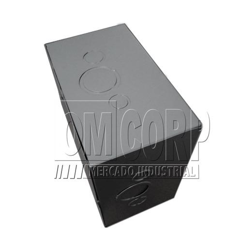 Caja Paso Empalme Gris Metal 10 X 10 X 6