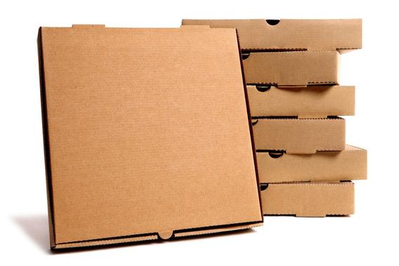50 Cajas Para Pizza Kraft 36x36x4 Cms 14 Pulgadas