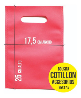 Bolsita Cotillon Souvenir Ecologica Colores X 100 Uni