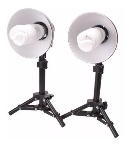 Kit 90w Iluminação Estúdio Mini Tripés 50 Cm E Lâmpadas