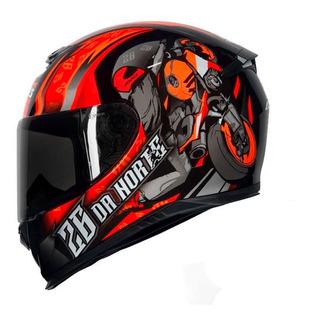 Capacete Axxis Eagle 26 Da Norte Gloss Black/red