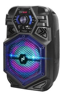 Parlante Portatil Inalambrico Noga Bt800 Led Rgb Karaoke Bt
