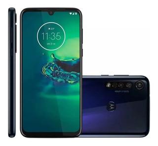 Smartphone Motorola G8 Plus 64gb Azul 4g 4gb Ram Tela 6,3