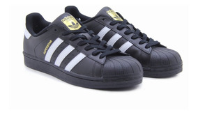 Tenis adidas Superstar Foundatio Concha Negro/blanco B27140