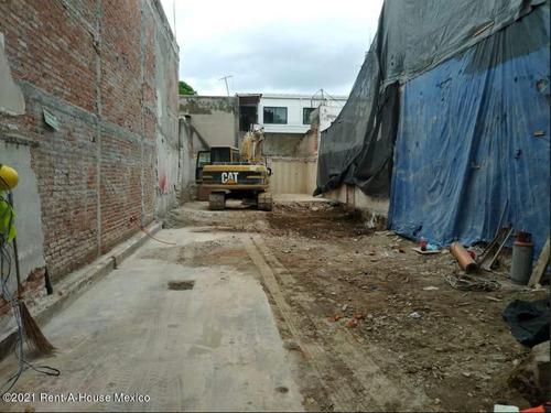 Imagen 1 de 5 de Venta Terreno Con Permisos Y Proyecto En Narvarte Df. Mls #21-4888