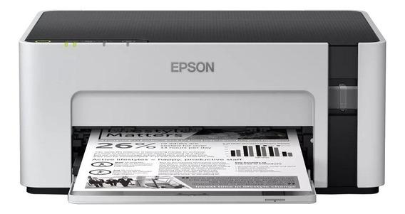 Impressora Epson EcoTank M1120 com Wi-Fi 220V branca e preta