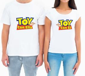 2 Playera Para Parejas Toy Story Personalizado Playeras Poly