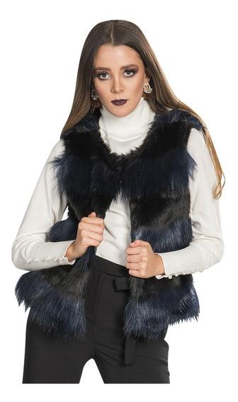 Chaleco Dama Peluche Casual Bicolor Moda R83201