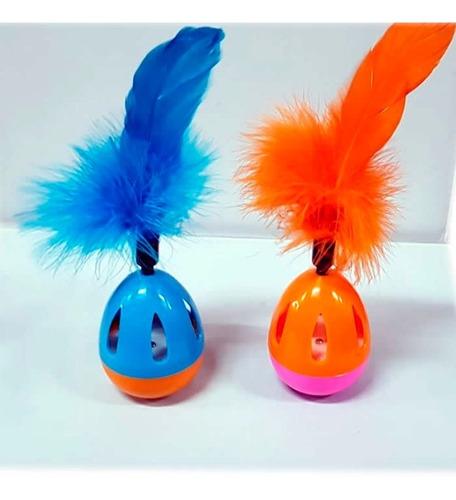 Juguete Para Gato Huevo Con Cascabel