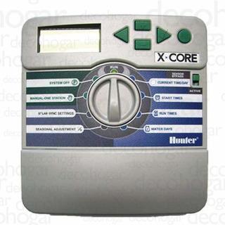 Programador De Riego Hunter Automatico Xcore 6 Estaciones
