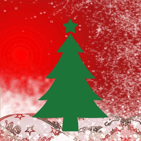 Adesivo 12 Árvores De Natal Em Vinil Pinheirinho Decoração