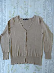 Casaco/blusa Cardigan Básico Em Retilínea Feminina-semi Nova