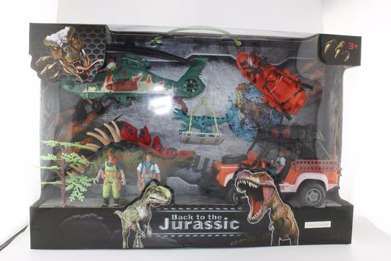 Dinosaurios 5 Figuras Play Set 4 Con Accesorios En Caja