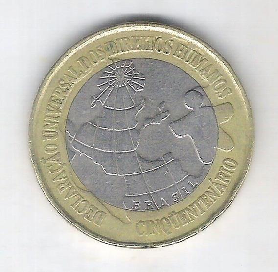 1 Real 1998 Comemorativa 50 Anos Declaração Direitos Humanos
