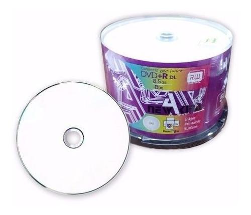 Dvd Dual Layer Printable Newakira Bulk  X 50 8,5 Gb 8x