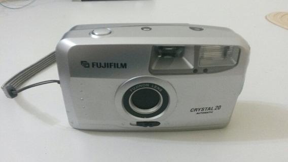Câmera Fotográfica Antiga Fuji Crystal 20 C/flash