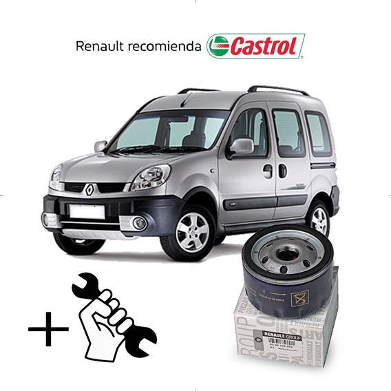 Service Cambio Aceite Y Filtros Kangoo Motor K4m - 1.6 Cc 16