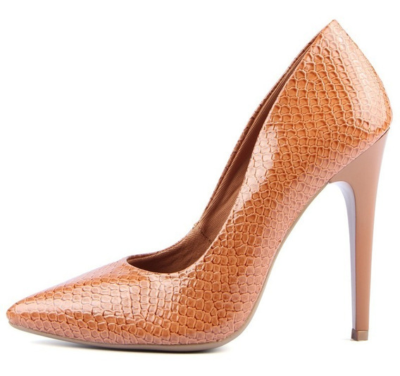 Sapato Feminino Scarpin Salto Alto Animal Print - Cobra