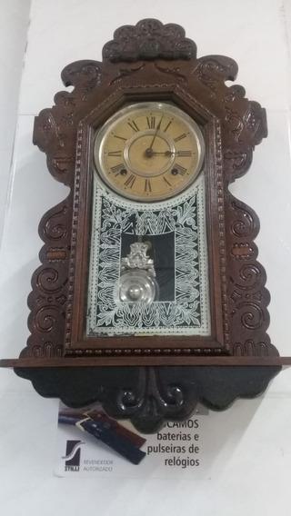 Relógio Antigo Ansonia Clock Co Raridade