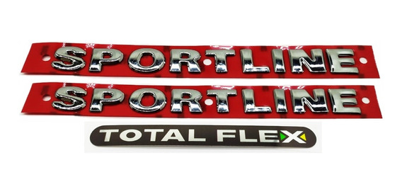 Emblemas Laterais Sportline + Flex - Golf 2007 À 2013