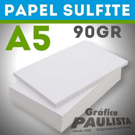 Papel Sulfite Branco Offset A5 90gr 1000 Folhas