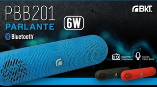 Parlante Radio Portatil Bluetooth Lector Sd Bkt 6w Fm Centro