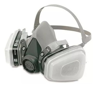 Máscara Facial 6200 + Par Filtros 6001(carvão Ativo) + 5n11
