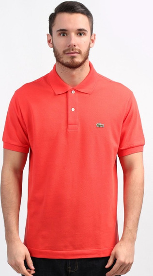 Playera Polo Lacoste Original Color Naranja