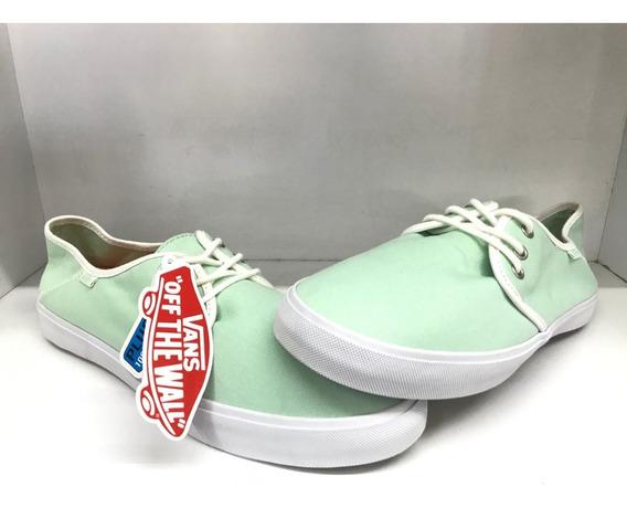 Tenis Vans Canvas Color Verde Aqua Nuevos Sin Caja