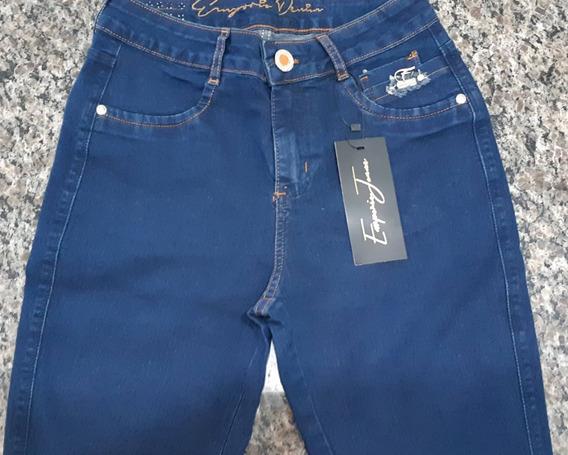 Calça Jeans Feminina Com Lycra Emporio 79- Cós Médio