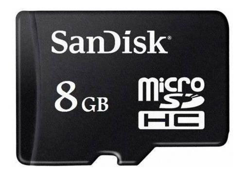 Cartao De Memoria Micro Sd 8gb P Linha Com Nota Fiscal