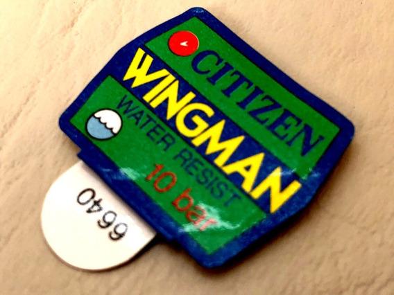 Citizen Wingman 8945 Etiqueta Raríssima Original Década 80